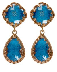 Larkspur & Hawk | Blue Small Teal Topaz Jane Earrings | Lyst