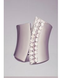 Bebe - Metallic Overlapping Metal Cuff - Lyst