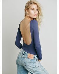 Free People - Blue Intimately Womens Solid Low Back Cami - Lyst