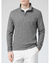 Reiss - Gray Mckay Melange Wool Jumper for Men - Lyst