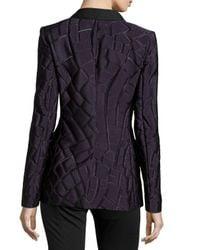 ESCADA - Purple One-button Shawl-collar Jacket - Lyst