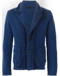 Alexander McQueen - Blue Knit Blazer for Men - Lyst