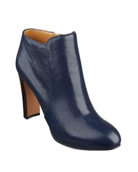 Nine West | Blue Gidran Leather Booties | Lyst