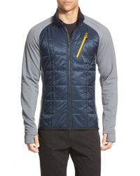 Smartwool | Blue 'corbet 120' Water Resistant Mixed Media Jacket for Men | Lyst