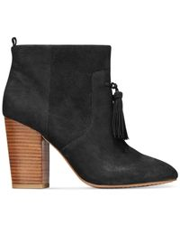 French Connection | Black Linds Tassel Booties | Lyst