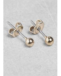 & Other Stories | Metallic Orb Stud Earrings | Lyst
