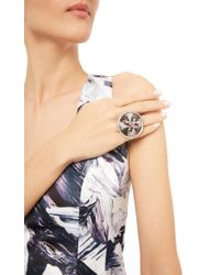 Sybarite - Metallic Dancing Leda Ring In 18K White Gold - Lyst