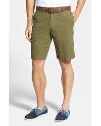 Tommy Bahama | Green 'del Chino' Flat Front Pima Cotton Shorts for Men | Lyst