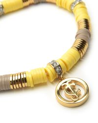Juicy Couture | Yellow Stretchy Disc Beaded Bracelet | Lyst