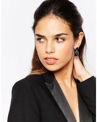 ASOS - Blue Opulent Swing Earrings - Lyst