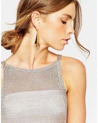 ASOS - Metallic Flat Shard Earrings - Lyst