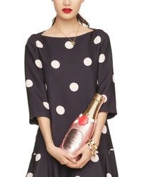 kate spade new york - Pink Champagne Bottle Clutch - Lyst