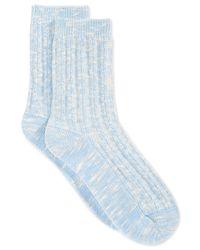 Lucky Brand | Blue Women's Basket Texture Marley Crew Socks | Lyst