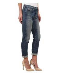 J Brand Blue Georgia Mid Rise Slim Boy Fit Jeans In Keeper