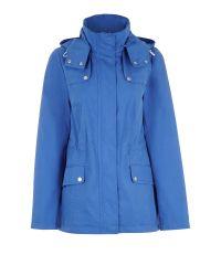 Dash Blue Drawstring Waist Short Coat