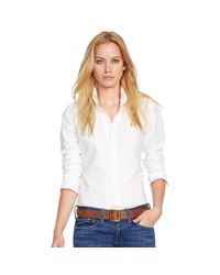 Polo Ralph Lauren - White Custom-fit Oxford Shirt - Lyst