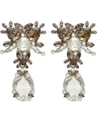 Givenchy | Metallic Strass Crystal Clip-on Earrings | Lyst