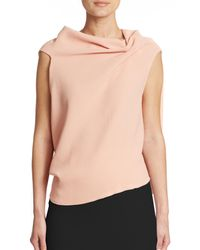 Roland Mouret | Pink Eugene Draped Wool Top | Lyst