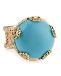 Kendra Scott - Blue Tyra Turqouise Ring Size 8 - Lyst