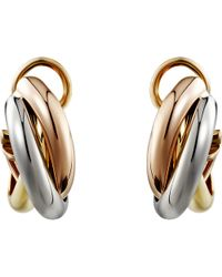 Cartier Trinity De 18ct Pink, Yellow And White-gold Earrings
