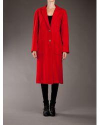 Guy Laroche | Red Long Coat | Lyst