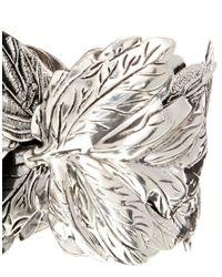 ASOS | Metallic Limited Edition Old Leaf Cuff Bracelet | Lyst