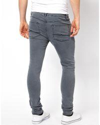 ASOS Super Skinny Jean in Washed Gray for men