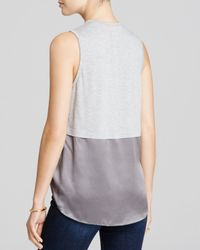 Elizabeth and James | Gray Hark Mixed-media Tank | Lyst