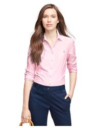 Brooks Brothers | Pink Cotton Dobby Shirt | Lyst