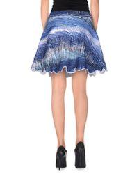 KENZO | Blue Mini Skirt | Lyst