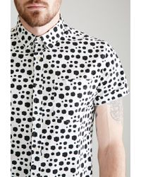 Forever 21 - White Dalmatian Dotted Shirt for Men - Lyst