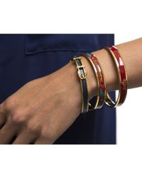Hermès | Blue Pre-owned: Lizard Embossed Leather 65 Buckle Bracelet | Lyst