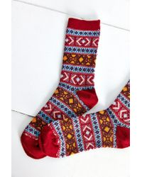 Anonymous Ism Blue Printed Sock