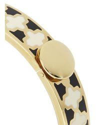 Halcyon Days - Natural Agama 18Kt Gold Plated Bangle - Lyst