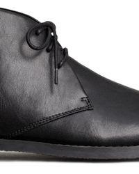 H&M Black Desert Boots for men
