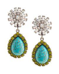 DANNIJO | Blue Ranya Turquoise Colored Teardrop Earrings | Lyst
