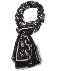 Marc By Marc Jacobs   Black Logo Print Scarf   Lyst