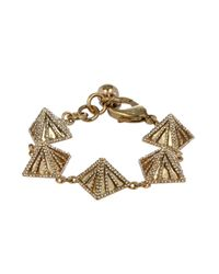Lulu Frost | Metallic Apex Pyramid-Linked Bracelet | Lyst