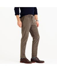 J.Crew | Gray Bowery Slim Pant In 18-wale Corduroy for Men | Lyst