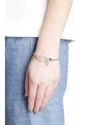 Marc By Marc Jacobs - Metallic Lost And Found Silver Tone Bracelet - Lyst
