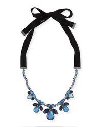 Marina Rinaldi | Black Latte Pendant Ribbon Necklace | Lyst