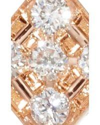 Diane Kordas - Metallic Rose Gold And Diamond Single Chevron Ear Jacket - Lyst