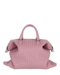 Bottega Veneta   Pink Small Convertible Intreccio Leather Bag   Lyst