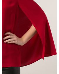 Ralph Lauren Black Label Red Cape Blouse
