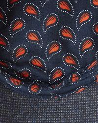 Ted Baker - Gray Woven Contrast Flat Cap for Men - Lyst