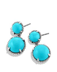 David Yurman - Metallic Châtelaine Double Drop Earrings With Turquoise - Lyst