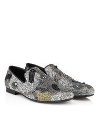 Jimmy Choo - Metallic Sloane Silver And Bronze Mini Studs Pattern Slippers for Men - Lyst