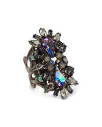 Sorrelli | Green Swarovski Crystal Ring | Lyst