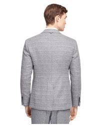 Brooks Brothers Gray Fair Isle Patch Pocket Sport Coat for men