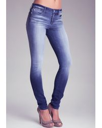 Bebe Blue Bebe Logo Super Stretch Skinny Jean